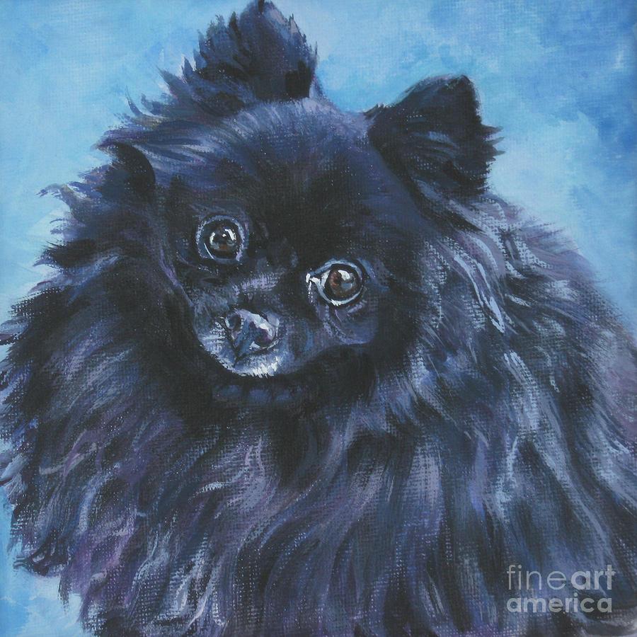 Pomeranian Black Painting