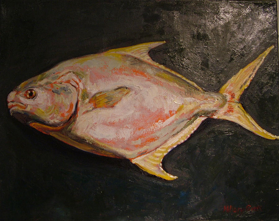 Pompano fish by hillary gross for Picture of pompano fish