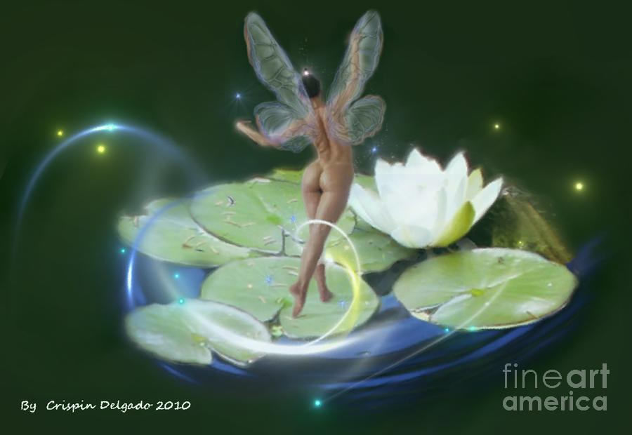 Pond Lilies Digital Art  - Pond Lilies Fine Art Print