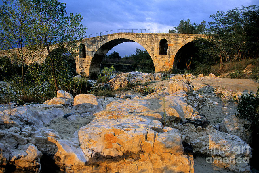 France Photograph - Pont Julien. Luberon. Provence. France. Europe by Bernard Jaubert