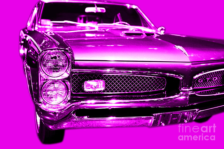 Pontiac Gto Magenta Photograph  - Pontiac Gto Magenta Fine Art Print