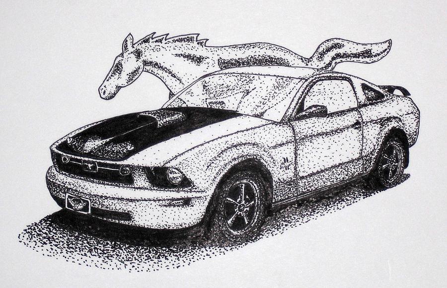 Mustang Emblem Drawing Pony Mustang Drawing