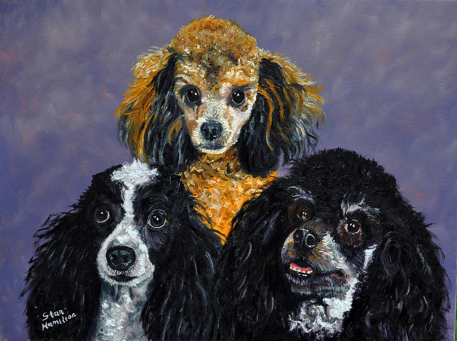 Poodles Painting - Poodles by Stan Hamilton