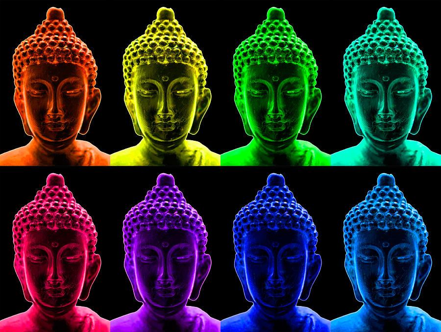 Pop Art Buddha  Photograph  - Pop Art Buddha  Fine Art Print