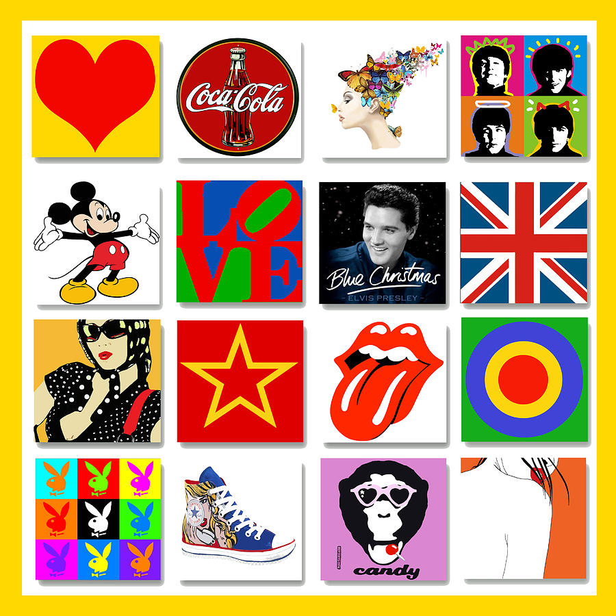 Pop Art Poster 01 Digital Art  - Pop Art Poster 01 Fine Art Print