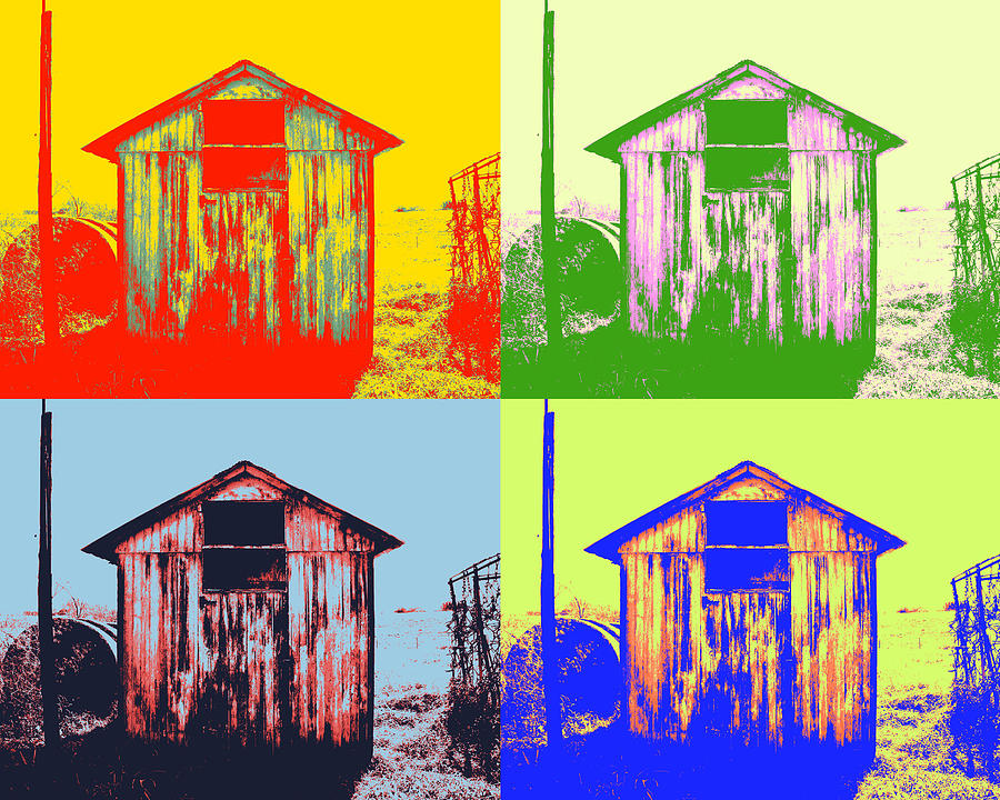 Pop Art Shed Photograph  - Pop Art Shed Fine Art Print