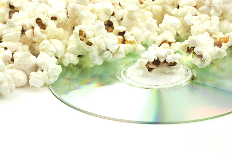 Popcorn And Movie  Photograph  - Popcorn And Movie  Fine Art Print