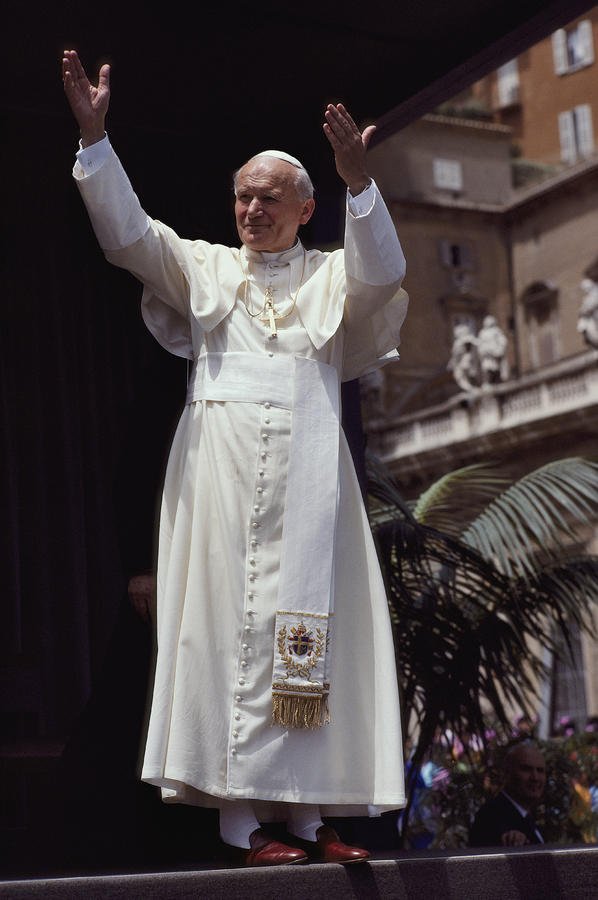 Pope John Paul II Blesses An Audience Photograph