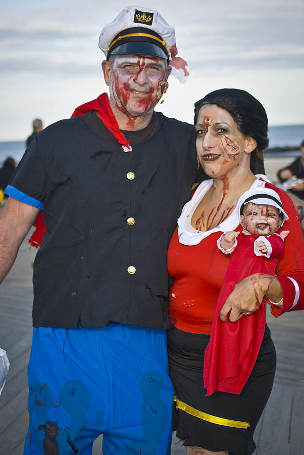 Popeye And Olive Oil Zombies Photograph