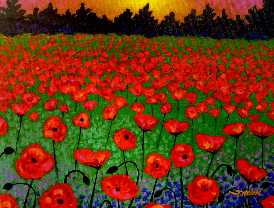 Poppy Carpet  Painting  - Poppy Carpet  Fine Art Print
