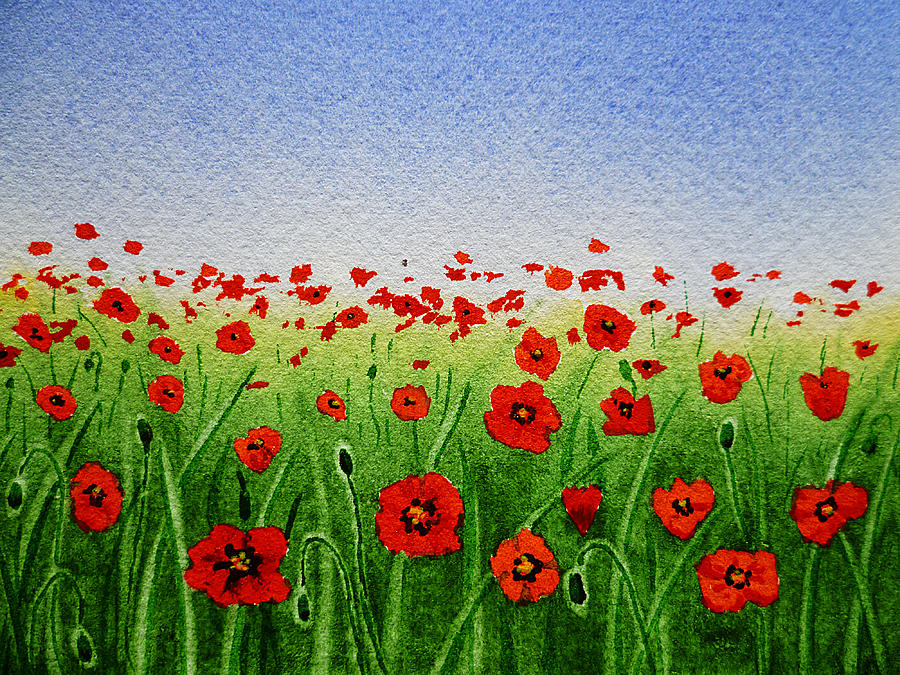 Poppy Field Painting  - Poppy Field Fine Art Print