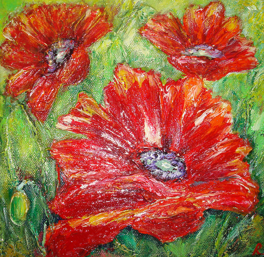 Poppy Flowers PaintingPoppy Flowers Painting
