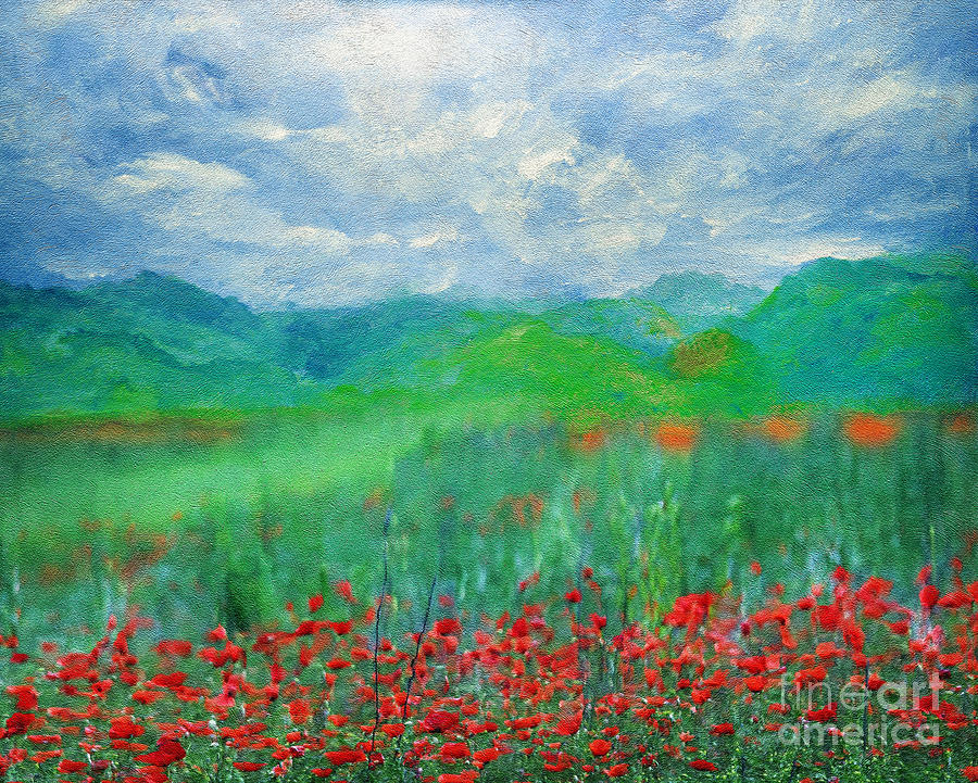 Poppy Meadows Painting