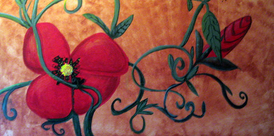 Poppy One Painting