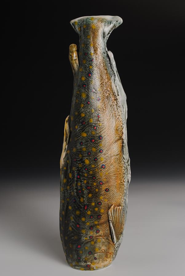 Porcelain Fish Vase Sculpture