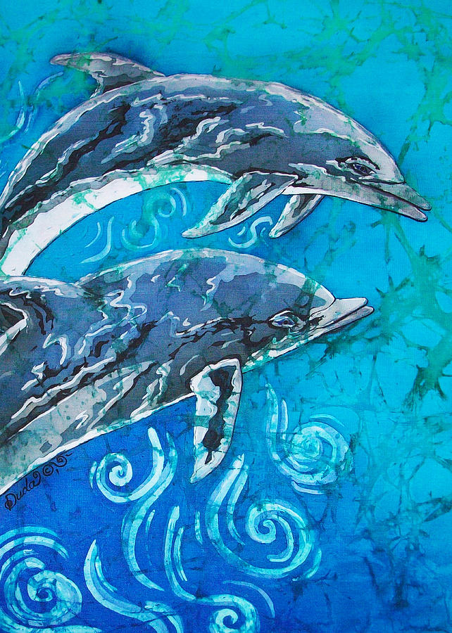 Porpoise Pair - Close Up Painting  - Porpoise Pair - Close Up Fine Art Print
