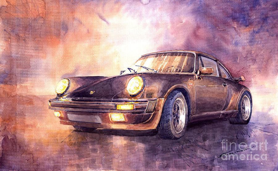 Porsche 911 Turbo 1979 Painting  - Porsche 911 Turbo 1979 Fine Art Print
