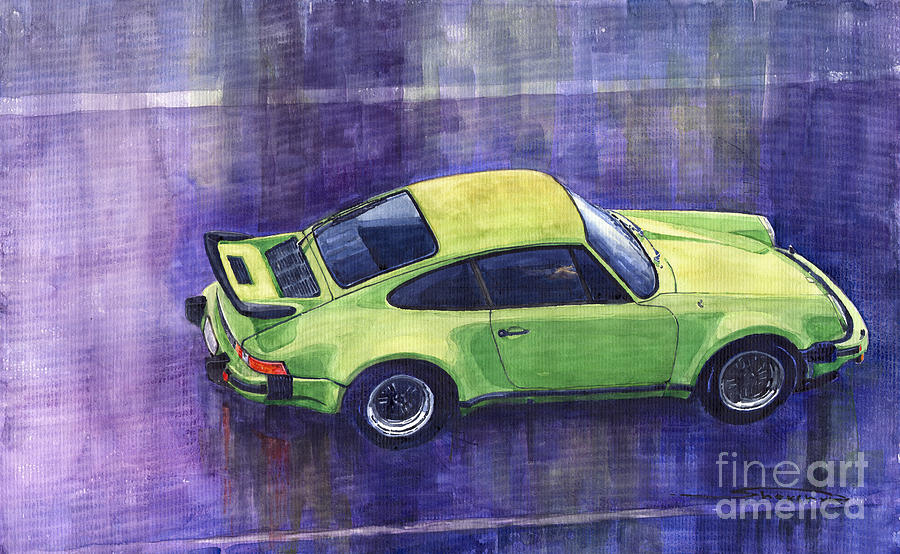 Porsche 911 Turbo Painting  - Porsche 911 Turbo Fine Art Print