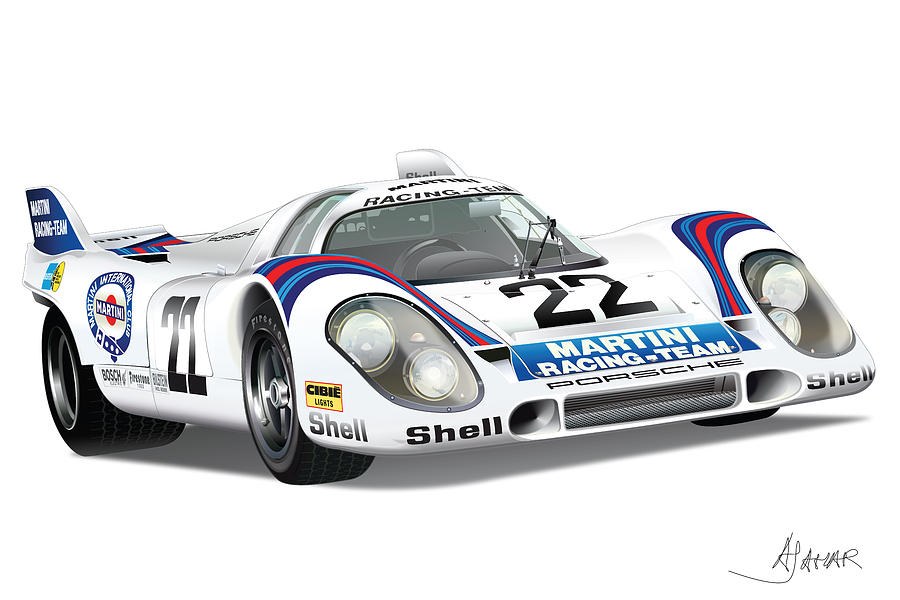 Porsche 917 Digital Art