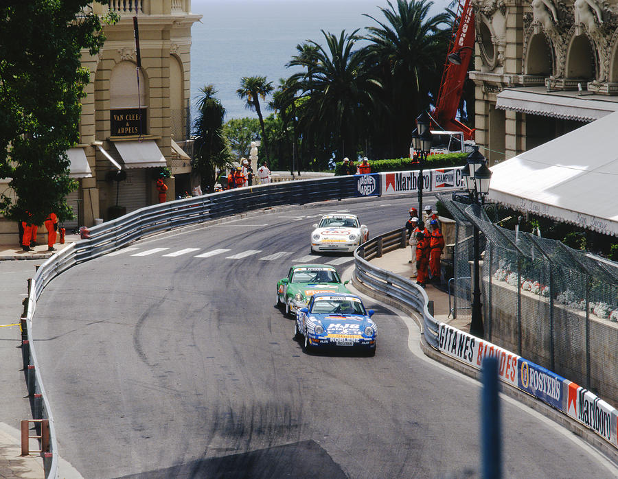Porsches At Monte Carlo Casino Square Photograph