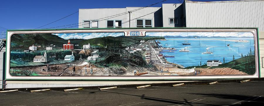 Port Angeles 1914 Mural Photograph  - Port Angeles 1914 Mural Fine Art Print