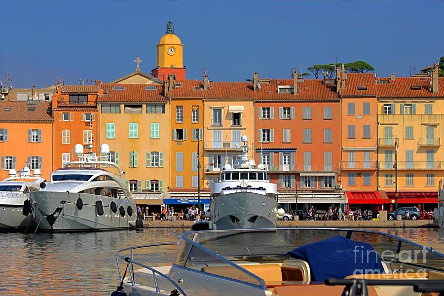 Port Of Saint-tropez In France Photograph