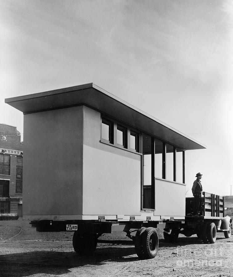Portable Housing, C1938 Photograph  - Portable Housing, C1938 Fine Art Print