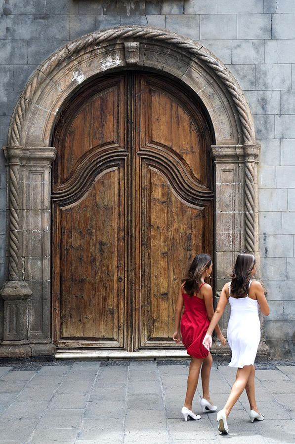 Portal Of The Iglesia De Nuestra Senora De La Pena De Francia Photograph