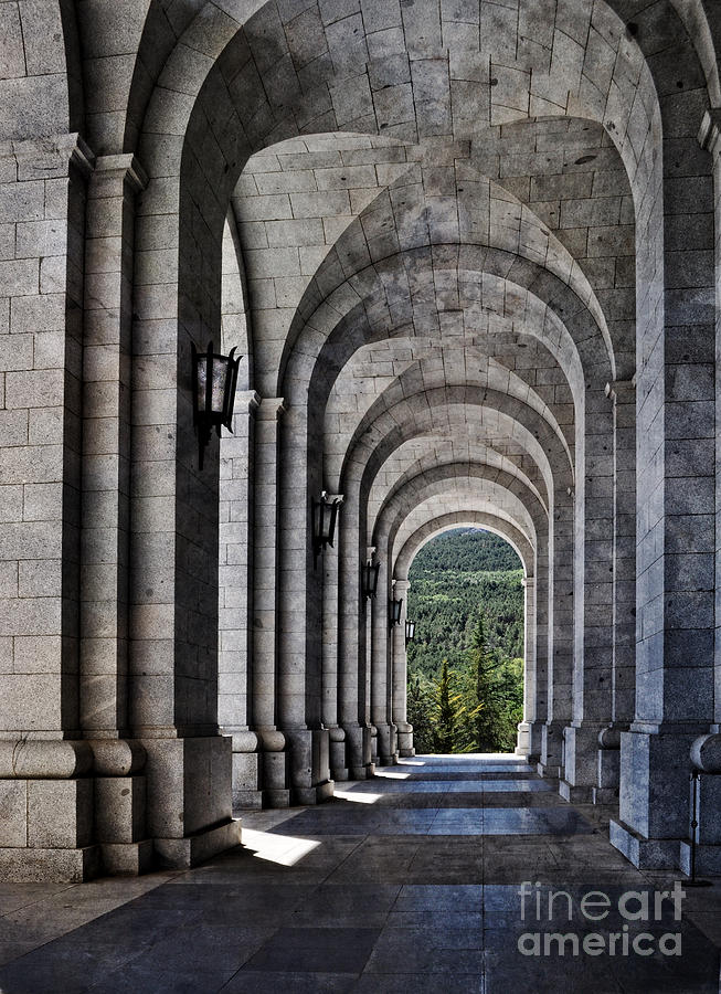 Portico From The Valley Of The Fallen Photograph