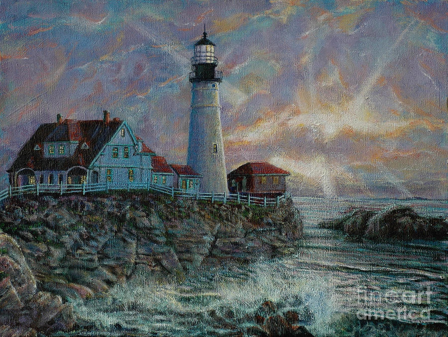 Portland Head Lighthouse Painting  - Portland Head Lighthouse Fine Art Print