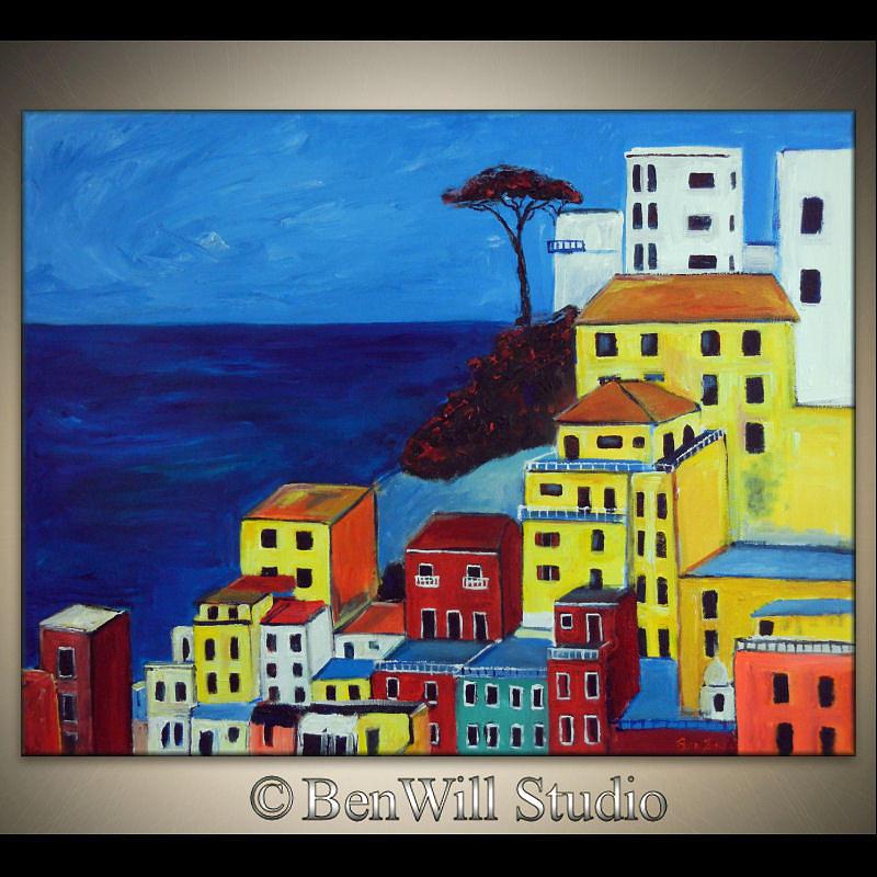 Portofino Painting - Portofino Italy by BenWill