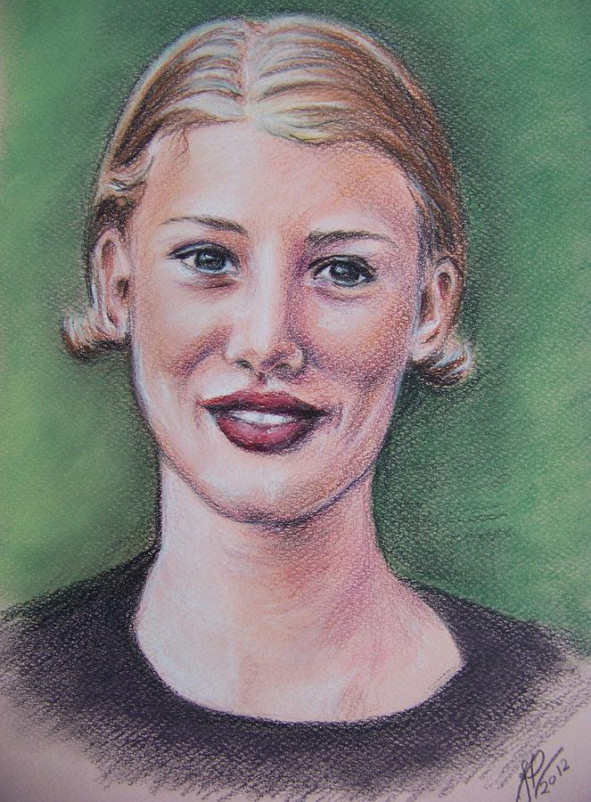 portrait based on Shan Peck image Pastel