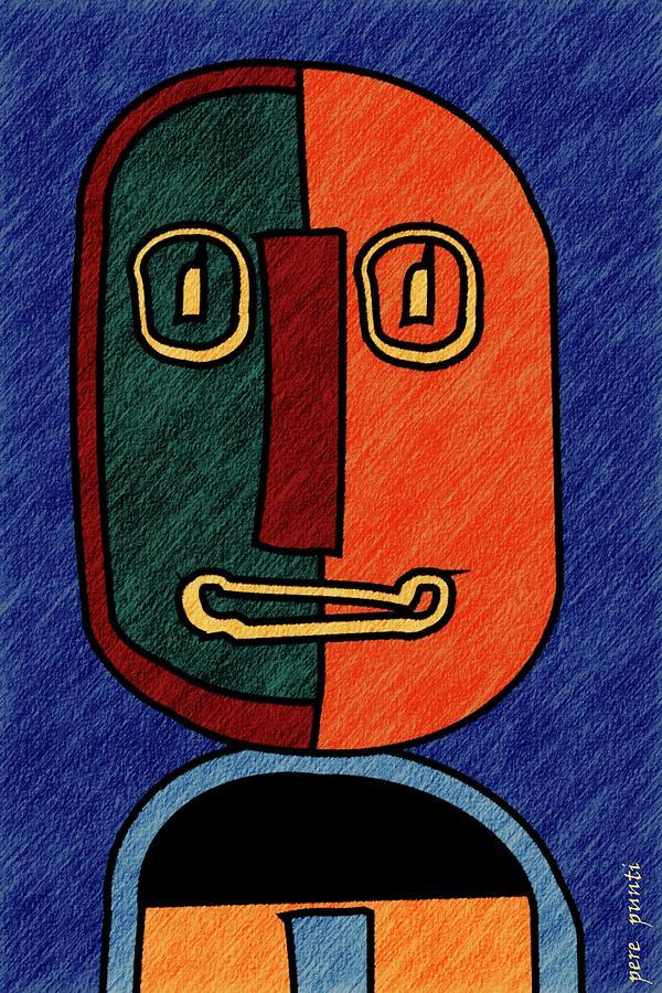 portrait in Almonte Slam with lines Digital Art