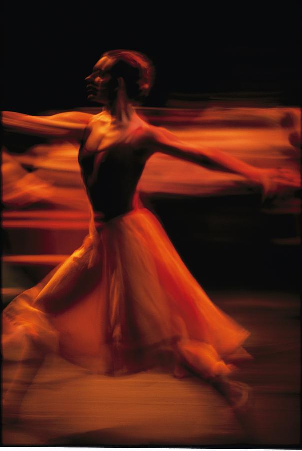Portrait Of A Ballet Dancer Bathed Photograph
