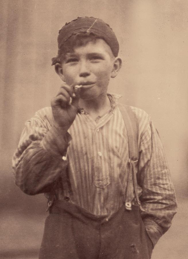 Portrait Of A Boy Smoking, Original Photograph