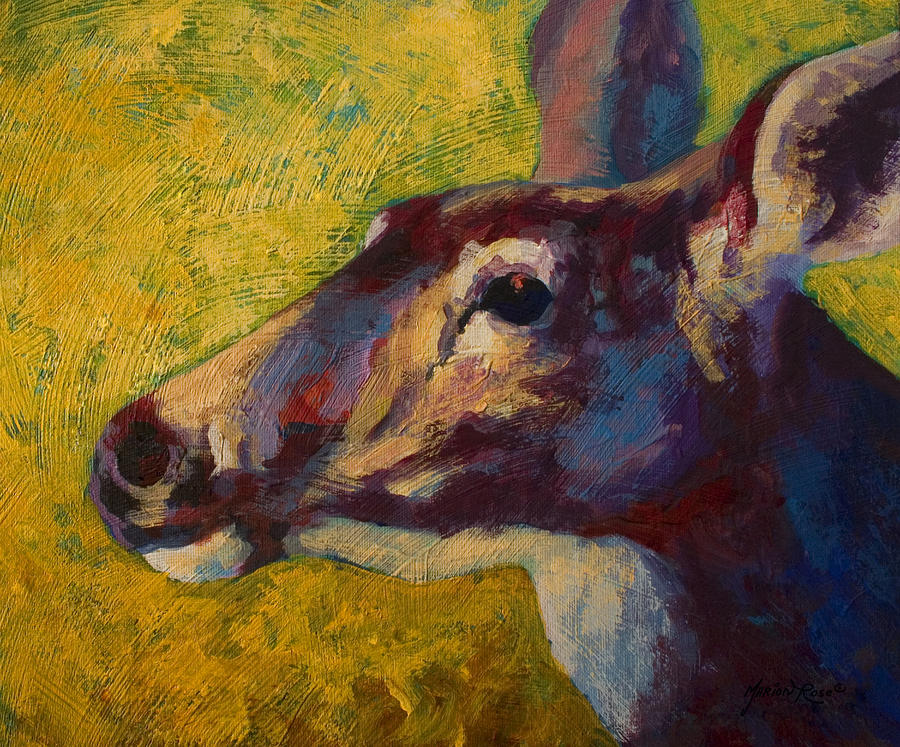 Portrait Of A Doe Painting