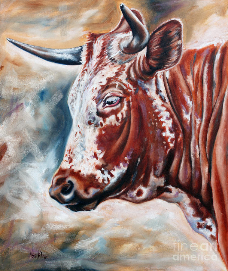 Portrait Of A Nguni Painting  - Portrait Of A Nguni Fine Art Print