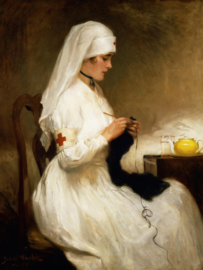 Portrait Of A Nurse From The Red Cross Painting