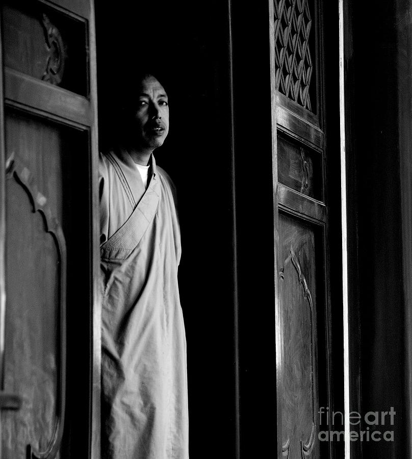 Monk Photograph - Portrait Of A Shaolin Monk by Dean Harte