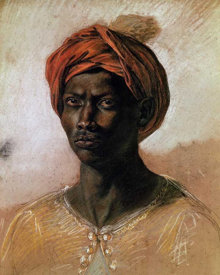 Portrait Of A Turk In A Turban Painting