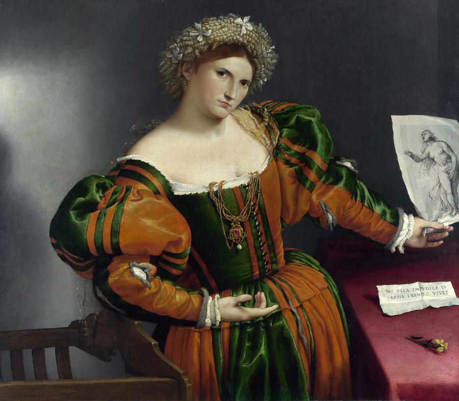 Portrait Of A Woman Inspired By Lucretia Painting