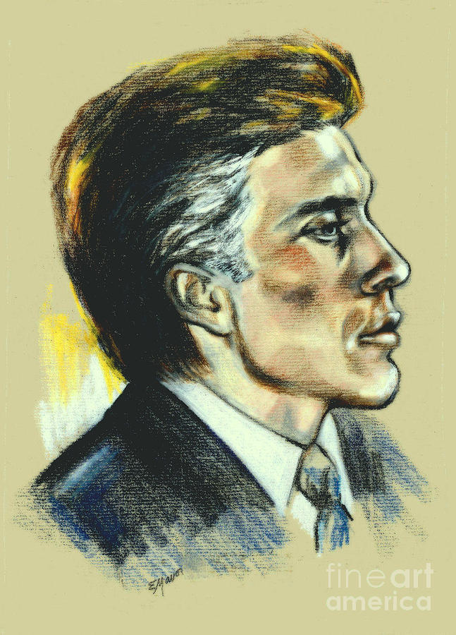 Actor Portrait Painting - Portrait Of An Actor by Elinor Mavor