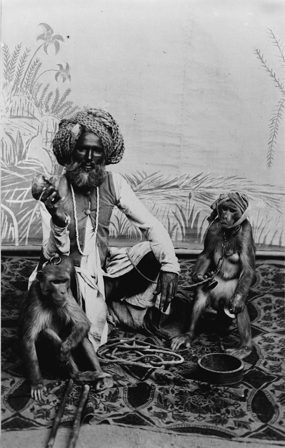 Portrait Of An Indian Fakir Photograph  - Portrait Of An Indian Fakir Fine Art Print