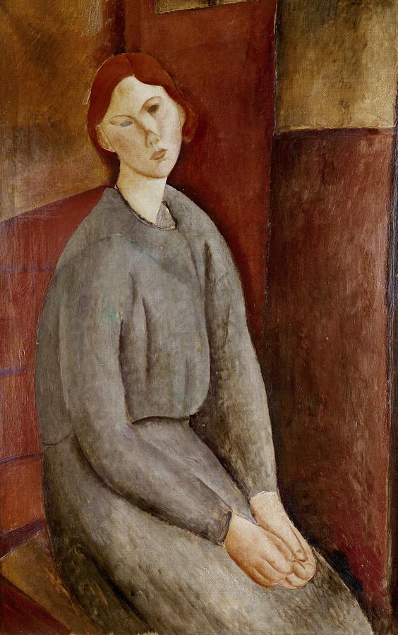 Portrait Painting - Portrait Of Annie Bjarne by Amedeo Modigliani