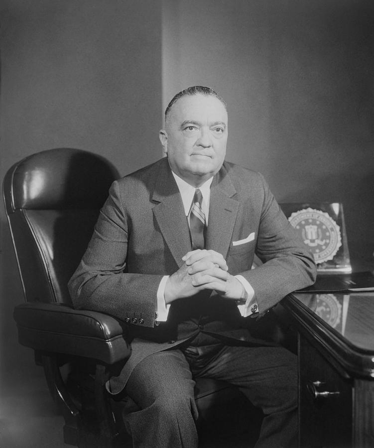 Portrait Of Fbi Director J. Edgar Photograph  - Portrait Of Fbi Director J. Edgar Fine Art Print