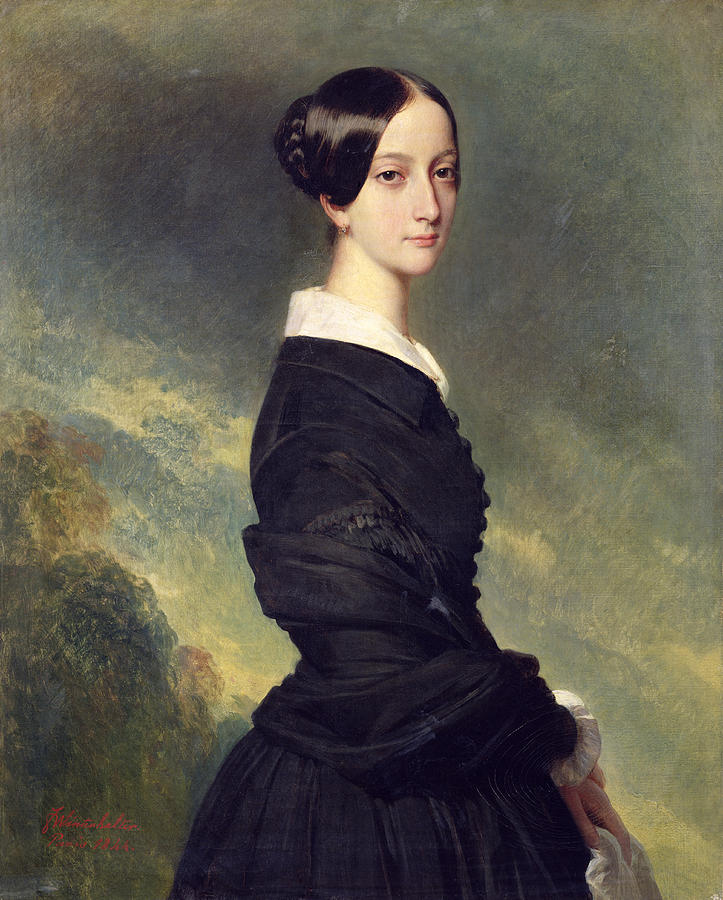 Portrait Of Francisca Caroline De Braganca Painting