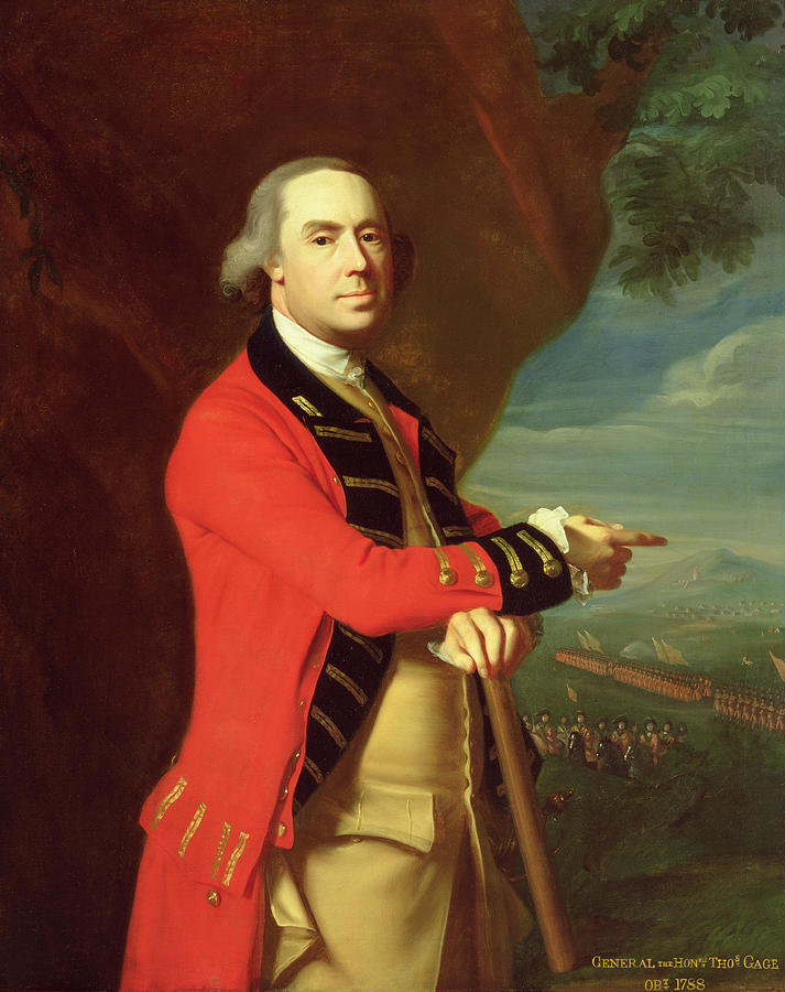 Portrait Of General Thomas Gage Painting