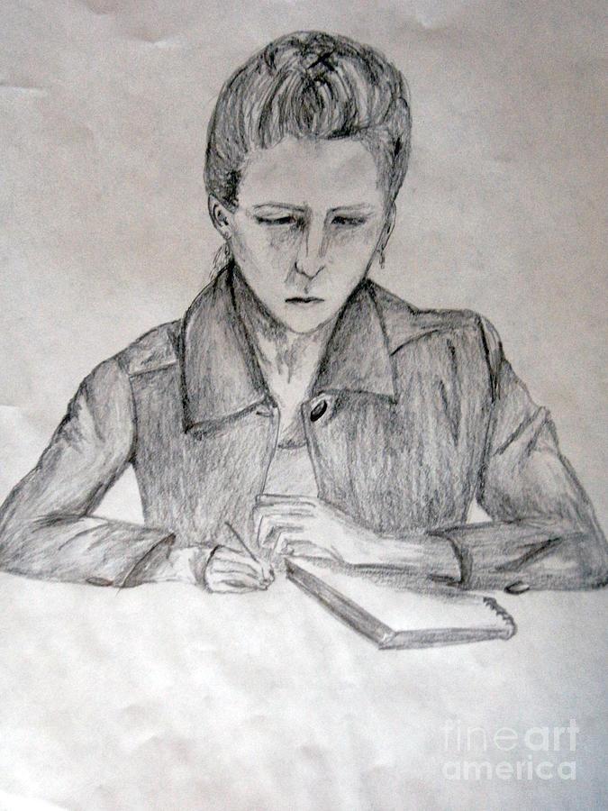 Human Drawing - Portrait Of Haley Golz by Jana Barros