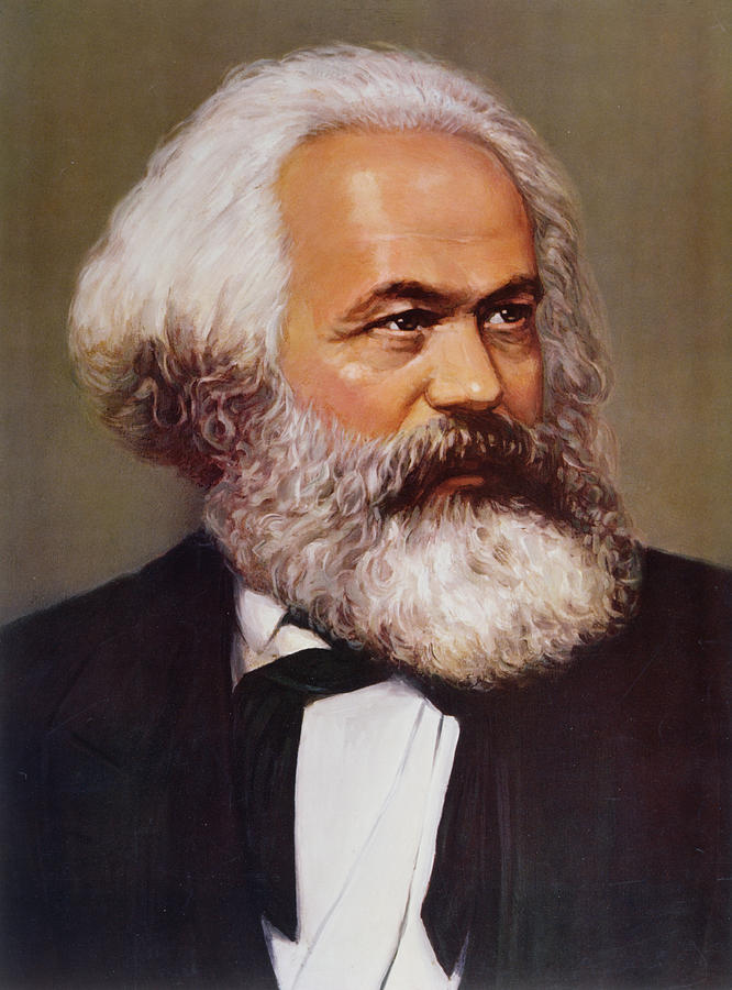 Portrait Of Karl Marx Painting  - Portrait Of Karl Marx Fine Art Print