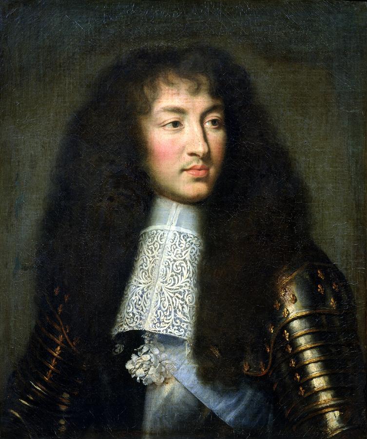Portrait Of Louis Xiv Painting